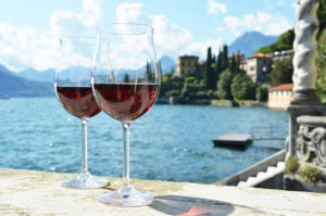 Lake Como cooking classes - wine