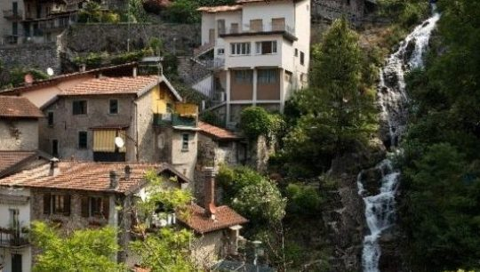 Orrido di Nesso, the waterfall view on Lake Como Italy